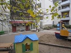 Lekplatsen utanför Allmäna vägens förskola, Fotograf: Anders Carlsson